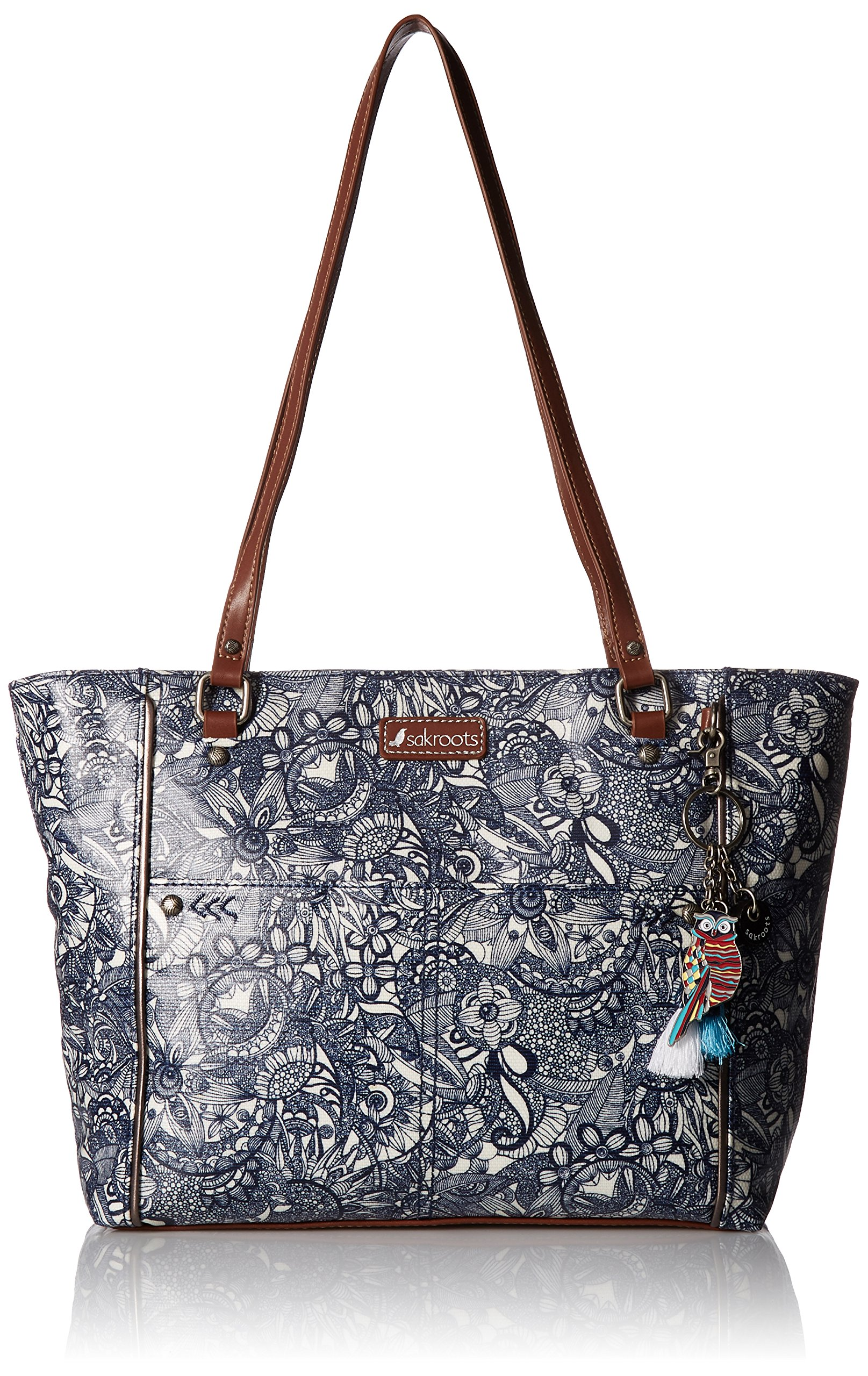 Sakroots Artist Circle Medium Satchel, Navy Spirit Desert