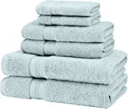 Pinzon 6 Piece Pima Cotton Bath Towel Set - Spa Blue
