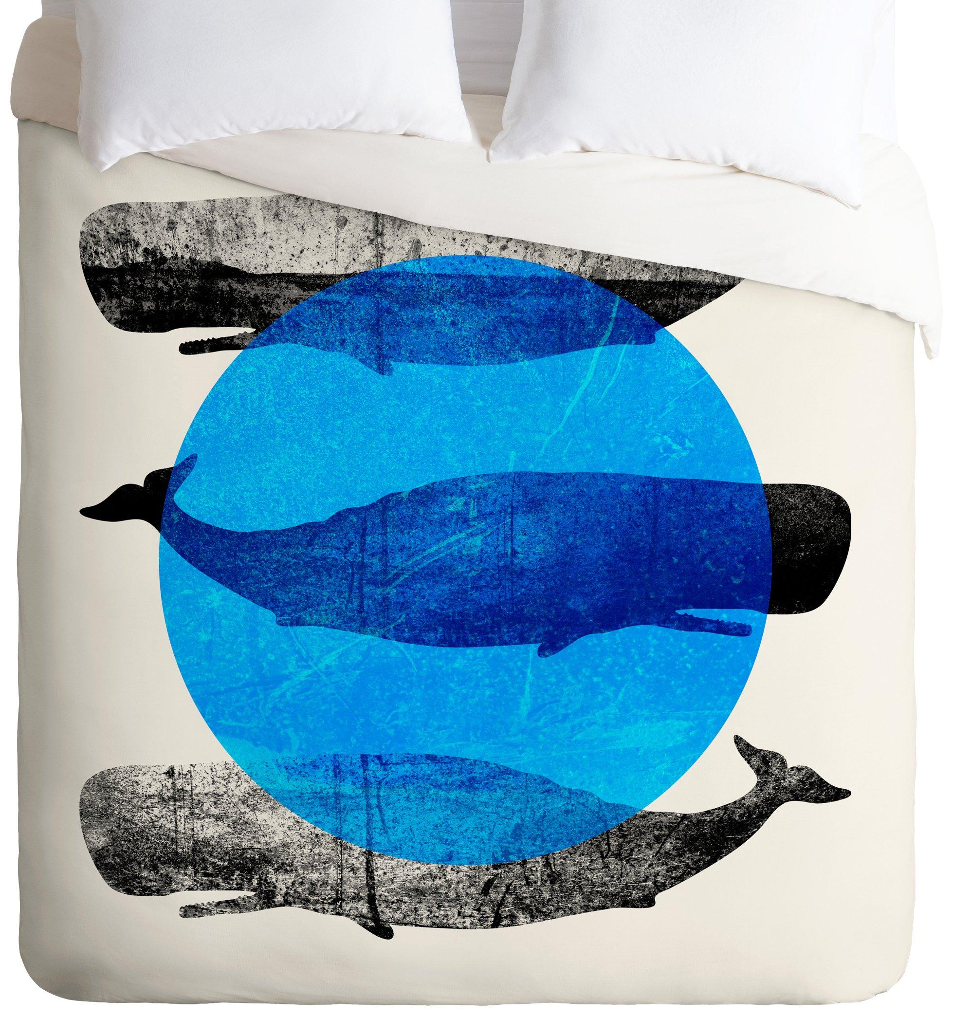 Deny Designs  Elisabeth Fredriksson Whales Duvet Cover, Twin/Twin XL
