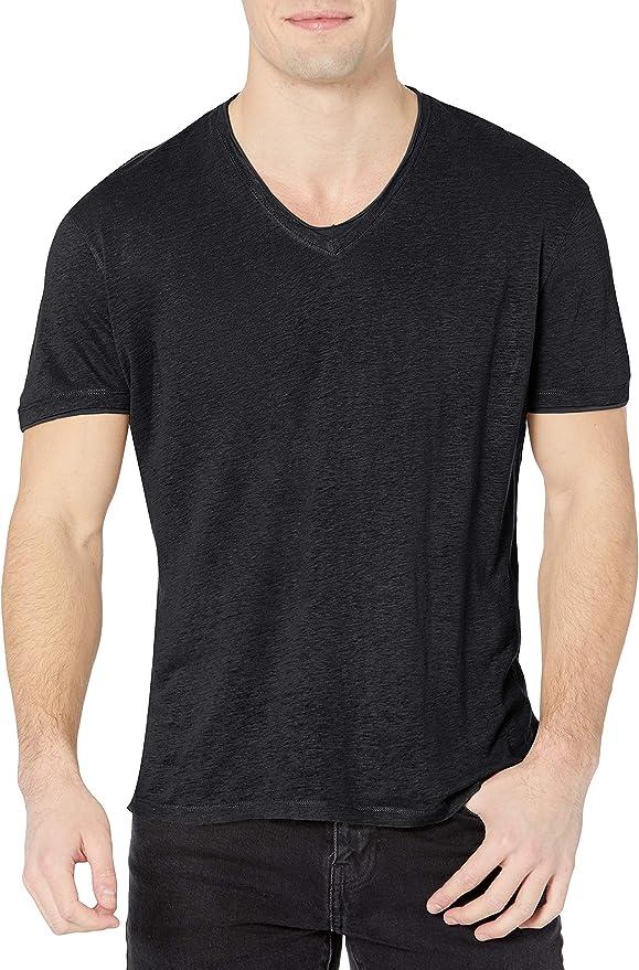 Neuf John Varvatos Star USA Stars Graphic V Neck T Shirt Bleu $88 Taille L XL