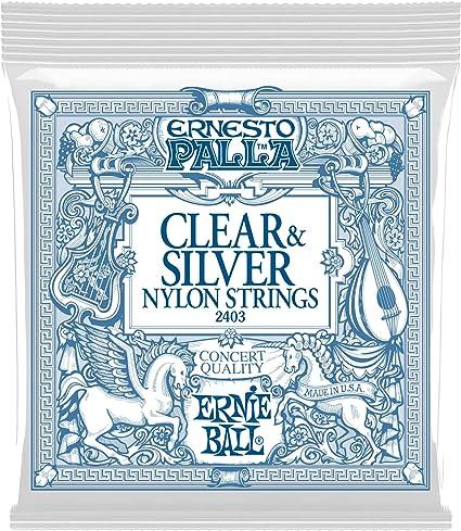 Ernie Ball Ernesto Palla Clear & Silver Nylon Cuerdas para ...