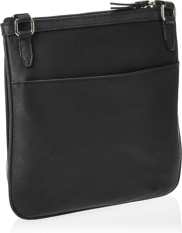 DKNY Borsa a tracolla in nylon nero con zip Black Fabric