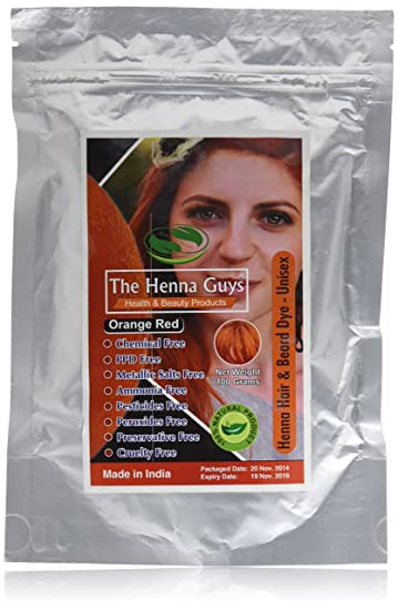 Amazon Com Red Orange Henna Hair Dye Color 1 Pack The Henna