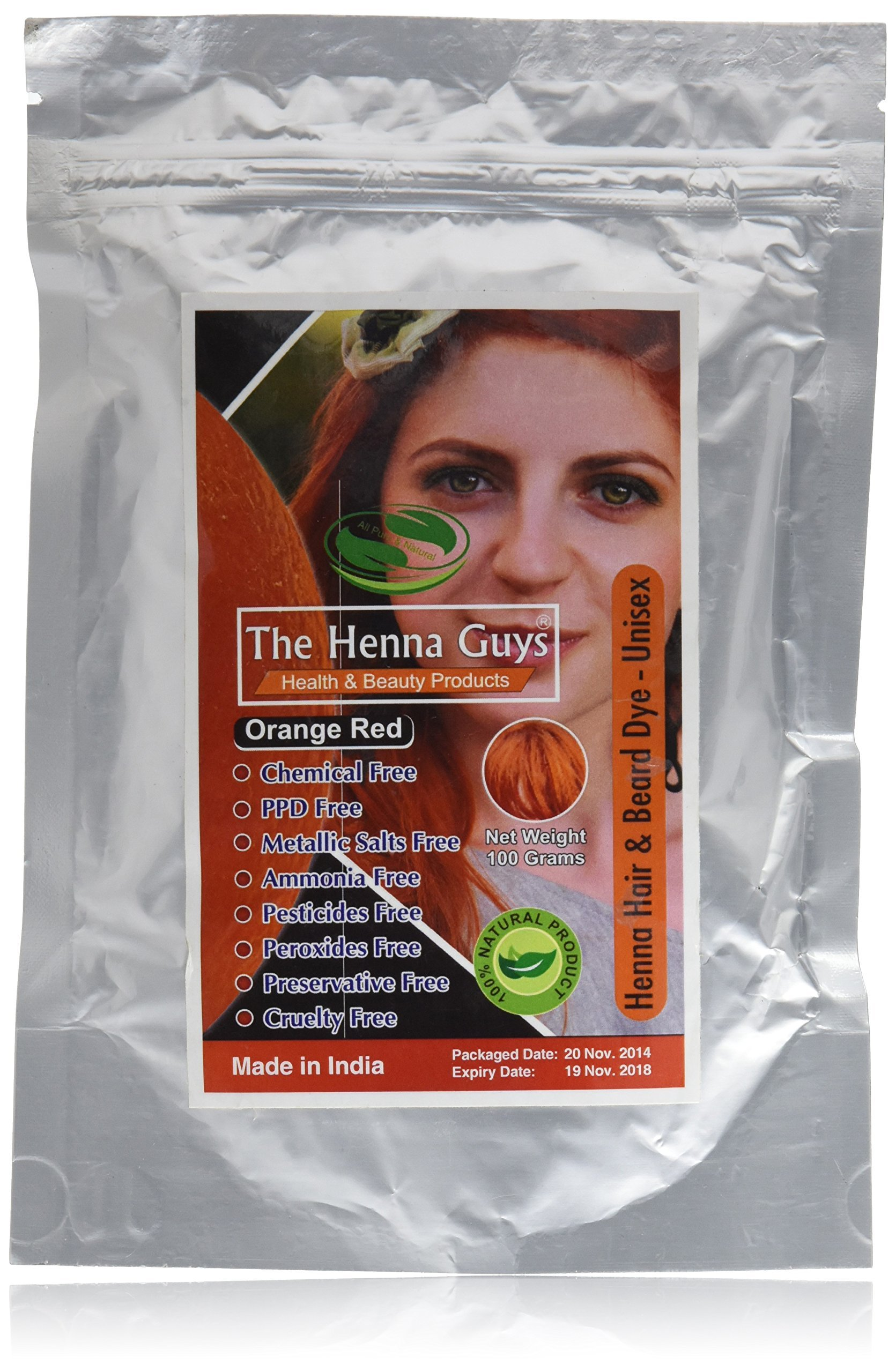 Amazon Com Natural Red Henna Hair Color Dye 100 Grams The Henna
