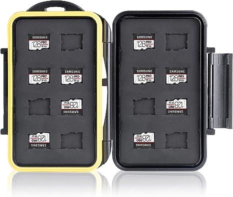 Ares Foto® Caja de protección • Almacenamiento de tarjeta de memoria para 16 Micro SD tarjetas • Funda guardar porta caja bolsa • Estuche impermeable Anti-choque • Memory Card Case: Amazon.es: Informática