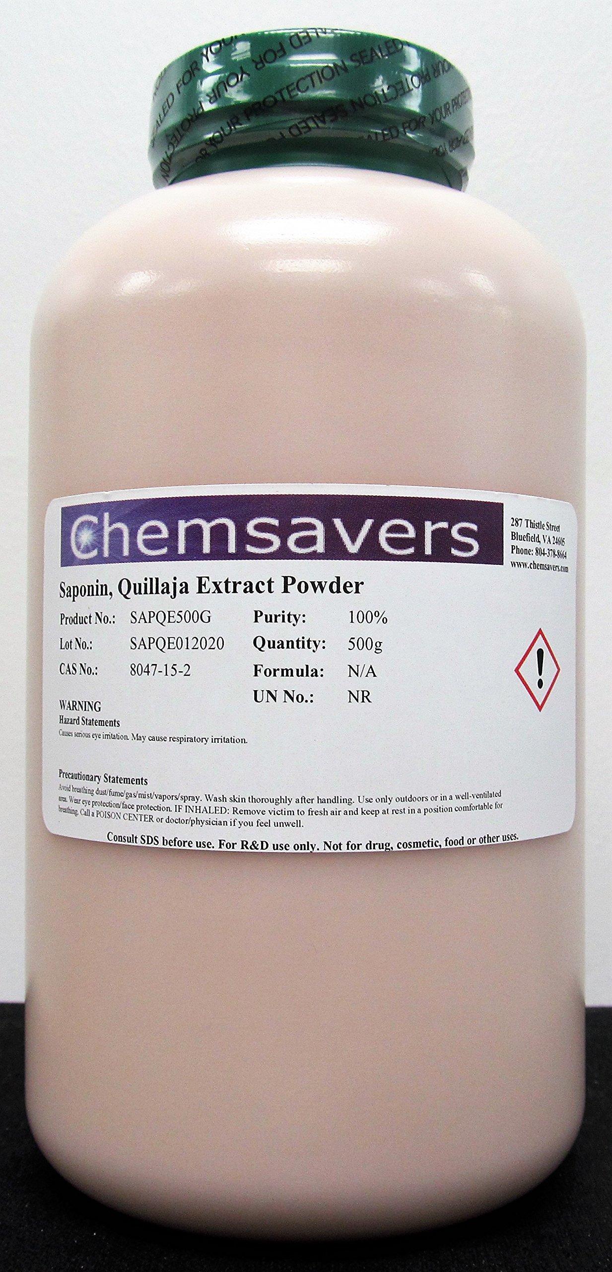 Saponin, Quillaja Extract Powder, 100%, 500g