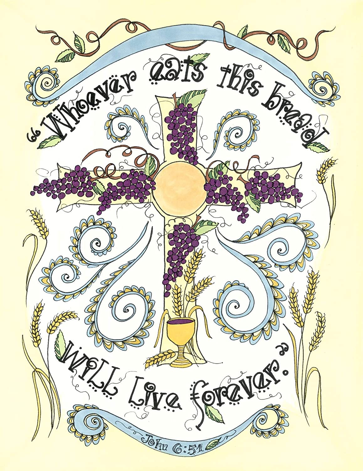 Bread of Life 8x10 - Catholic First Communion Gift