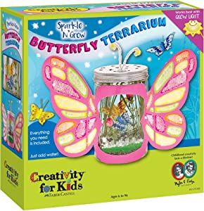 Creativity For Kids Sparkle N' Grow Butterfly Terrarium - Steam Crafts For Kids