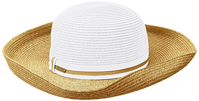 e83e043e Betmar Women's Perla Upturned-Brim Hat, White/Natural, One Size at ...