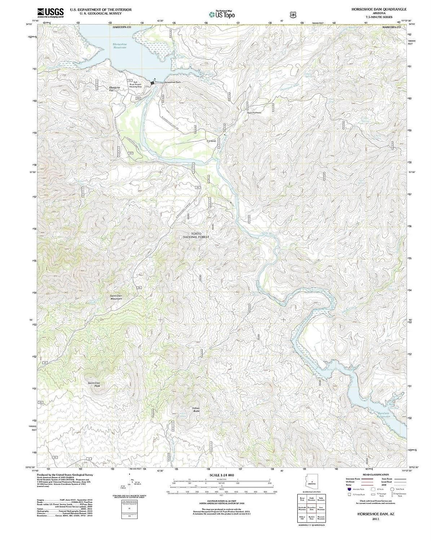 North Arizona Map.Amazon Com Arizona Maps 2011 Horseshoeam Az Usgs Historical