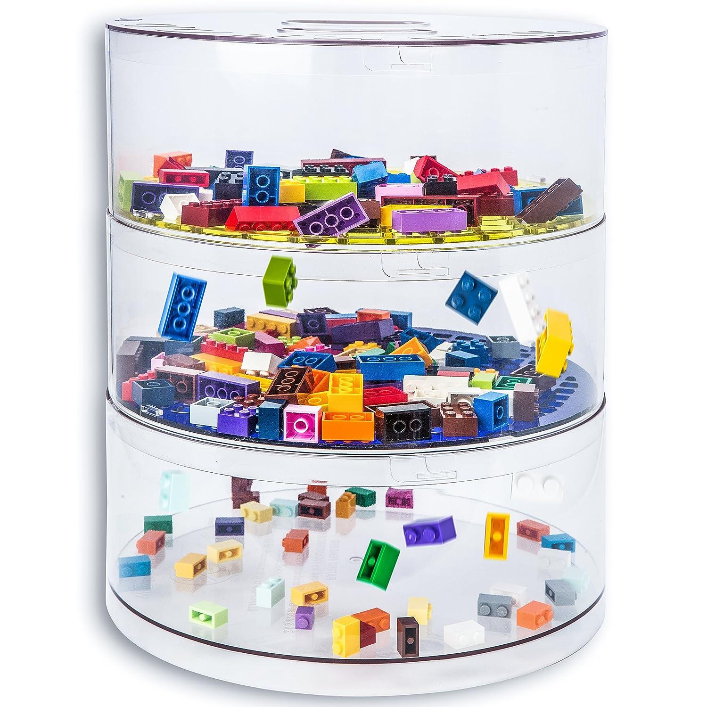 BLOKPOD Toy U0026 Lego Storage Bin Organizer U2022 Multipurpose Stackable Storage  Solution U2022 Large Capacity: 16 Litres U2022 Transparent Box U2022 15 YEAR WARRANTY U2022  3 ...