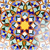 "3dRose LLC ct_73580_4 Ceramic Tile, 12-Inch, ""Morocco, Hassan II Mosque Mosaic, Islamic Tile Detail-Kymri Wilt"""