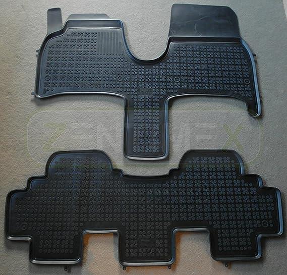 Zentimex Gummifußmatten Gummimatten Schalenmatten Für Citroen C8 2002 Schwarz Auto