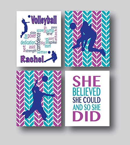 Personalized Volleyball Gifts For Girls Volleyball Decor For Bedroom 48x48 Or 48x48 Prints Only Personalized Volleyball Gifts For Teen Girls Magnificent Volleyball Bedroom Decor