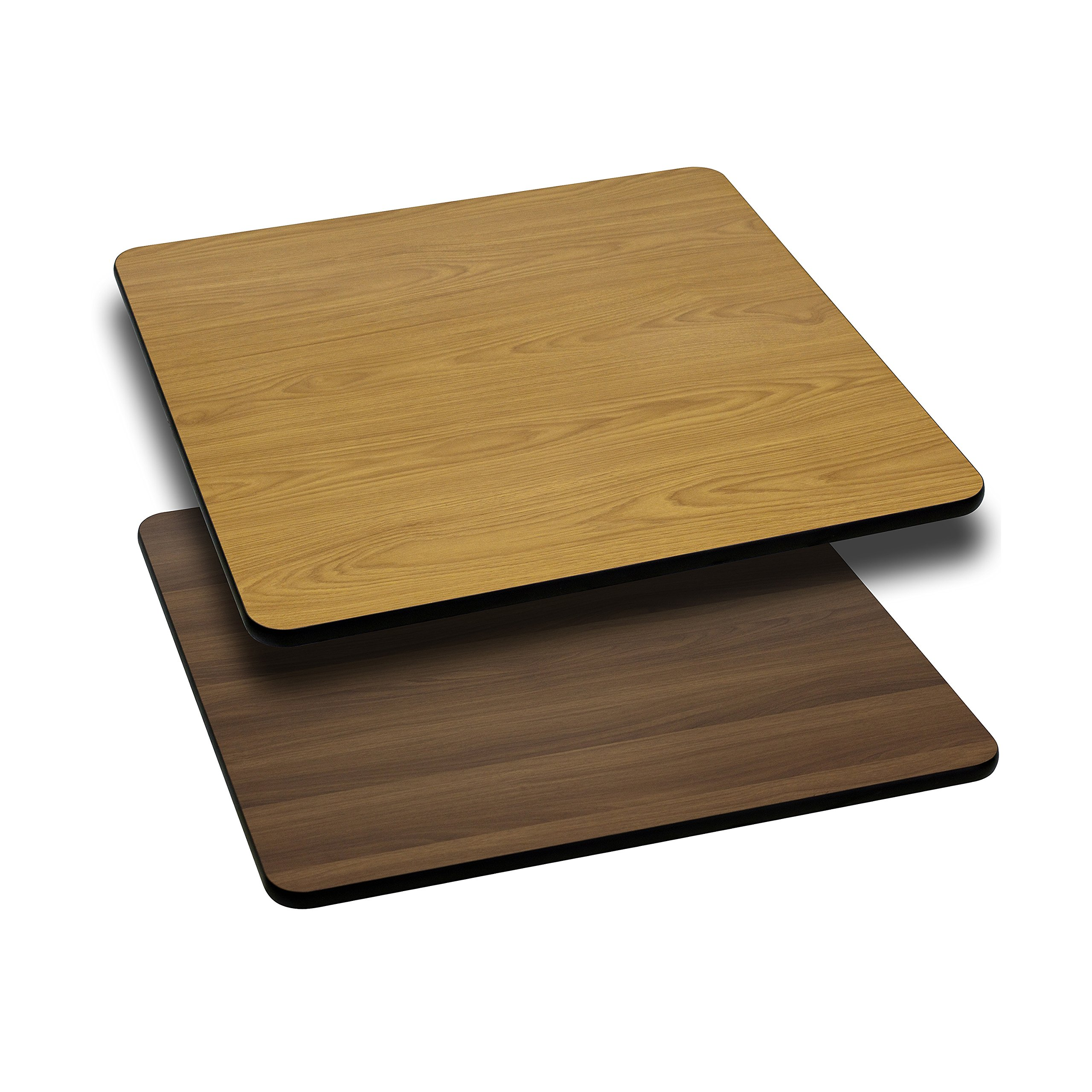 Flash Furniture 24'' Square Table Top with Natural or Walnut Reversible Laminate Top