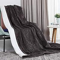 VICSAINTECK Elektrische deken verwarmde deken 130*180 cm, super zachte flanel elektrische overdeken met 6 warmte…