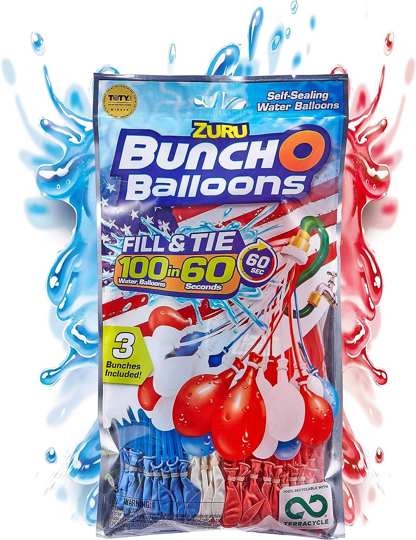 3 Packs Bunch O Balloons 100 Rapid-Filling Self-Sealing Water Balloons by ZURU