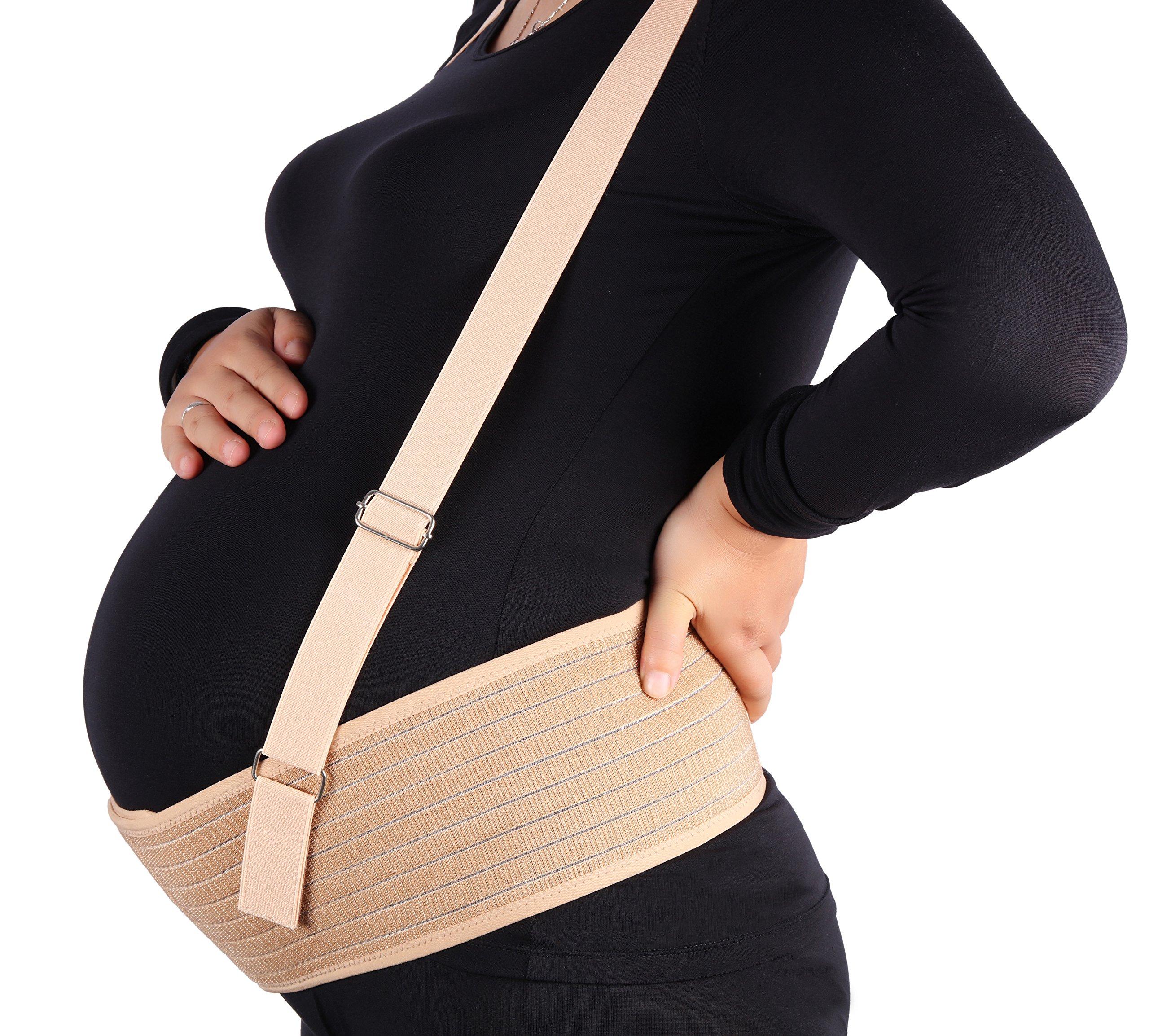 Aigori Maternity belt, Breathable Abdominal Binder, Pelvic and Back Support Belt for Pregnancy with Detachable Shoulder Straps, Women Postnatal Belly Band Prenatal Cradle