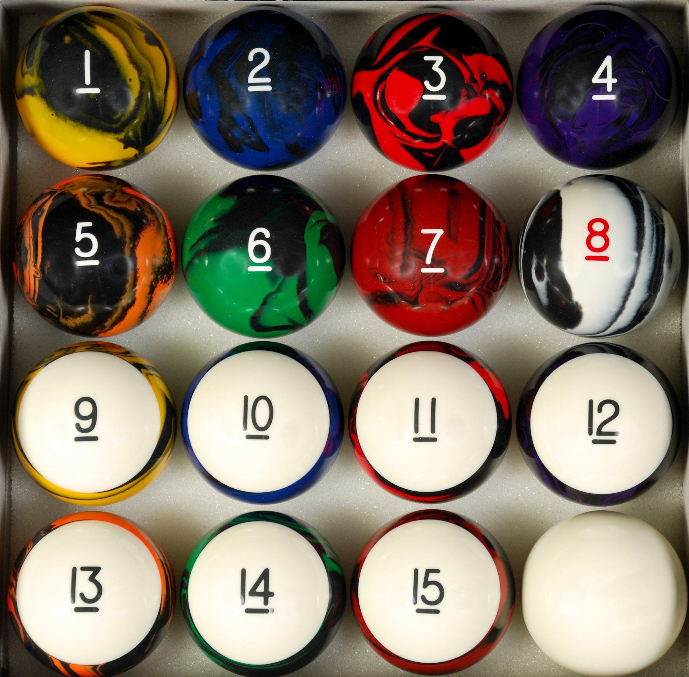 Pool Table Billiard Ball Set, Tech Style by Iszy Billiards