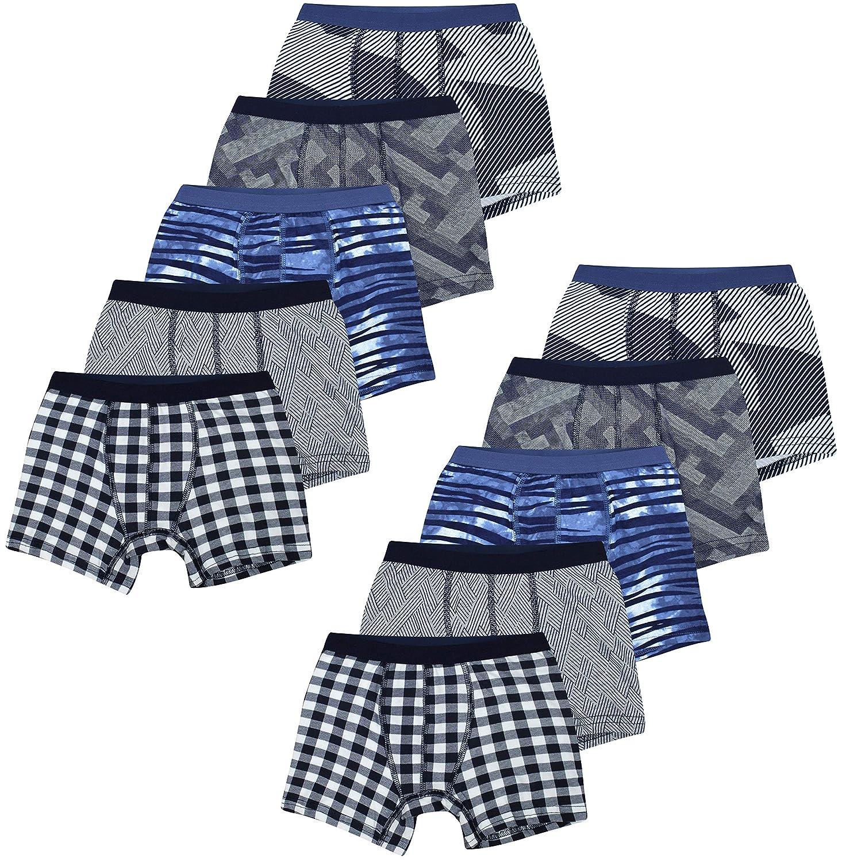PiriModa 10 ST/ÜCK Jungen Baumwolle Boxershorts Unterhosen Gr/ö/ße 92-158 Alter 2-13 Jahre Unterw/äsche Boys Kinder