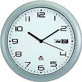 Alba HORDAY2 FR Horloge Murale Silencieuse avec Dateur 30 x 5,5 x 30 cm