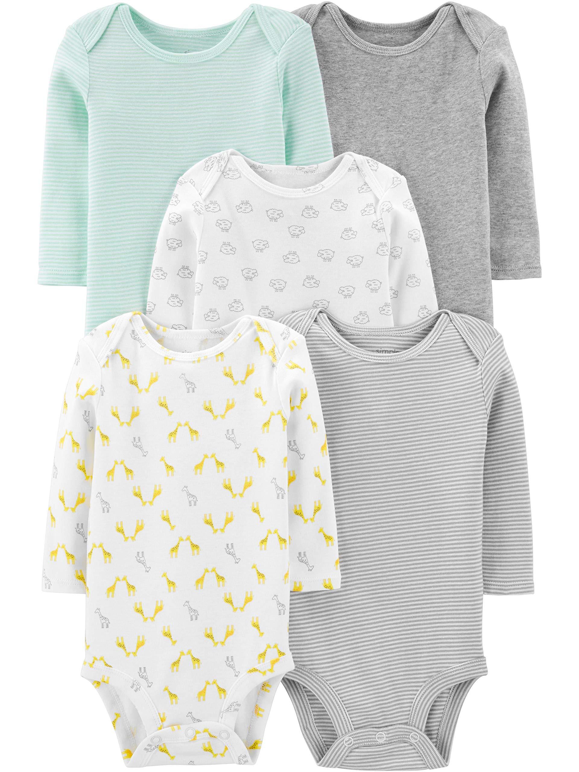 Simple Joys by Carter's Baby Boys' 5-Pack Long-Sleeve Bodysuit