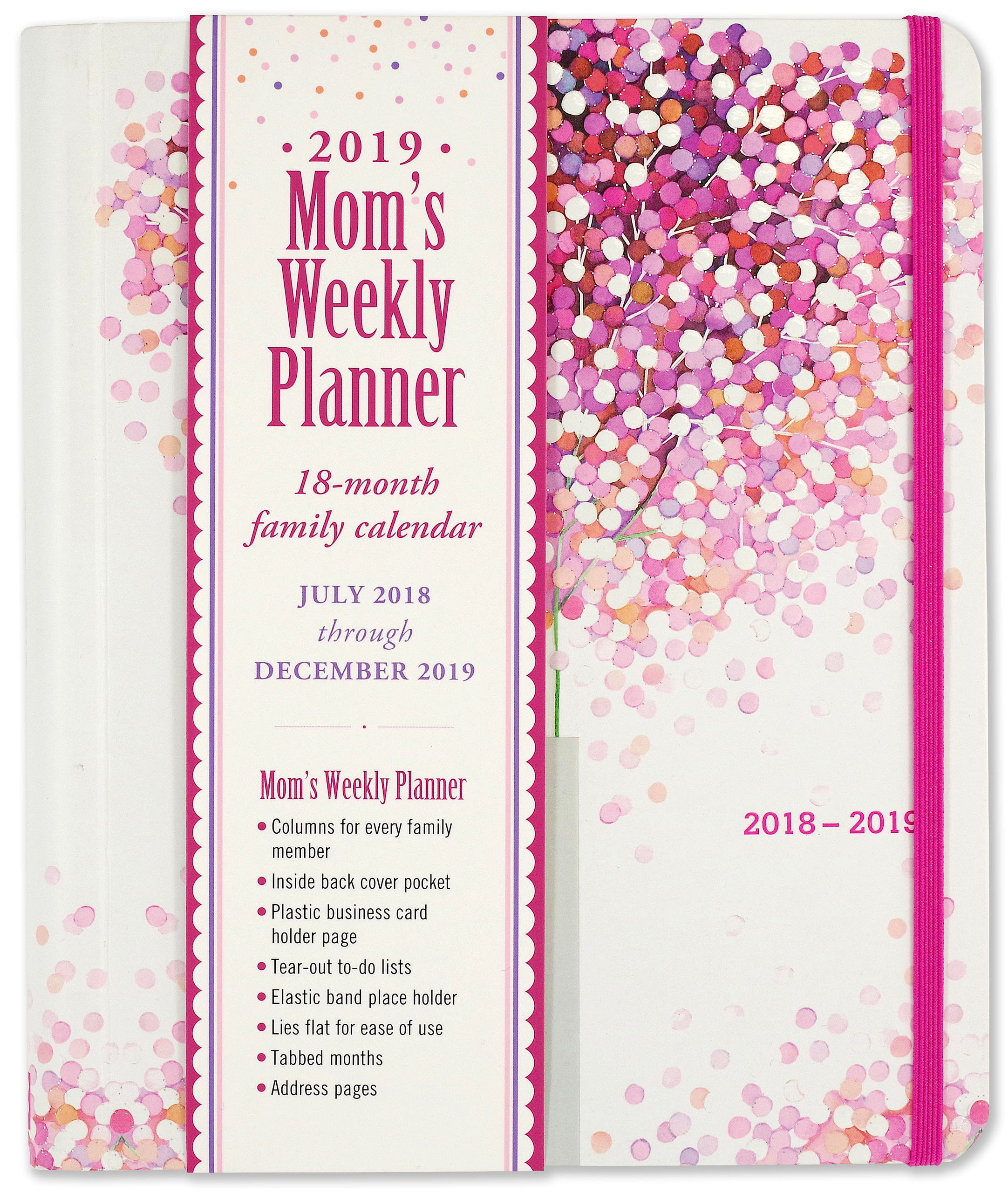 Calendar 2019 Business Card July December 2019 Lollipop Tree Mom's Weekly Planner (18 Month Family Calendar