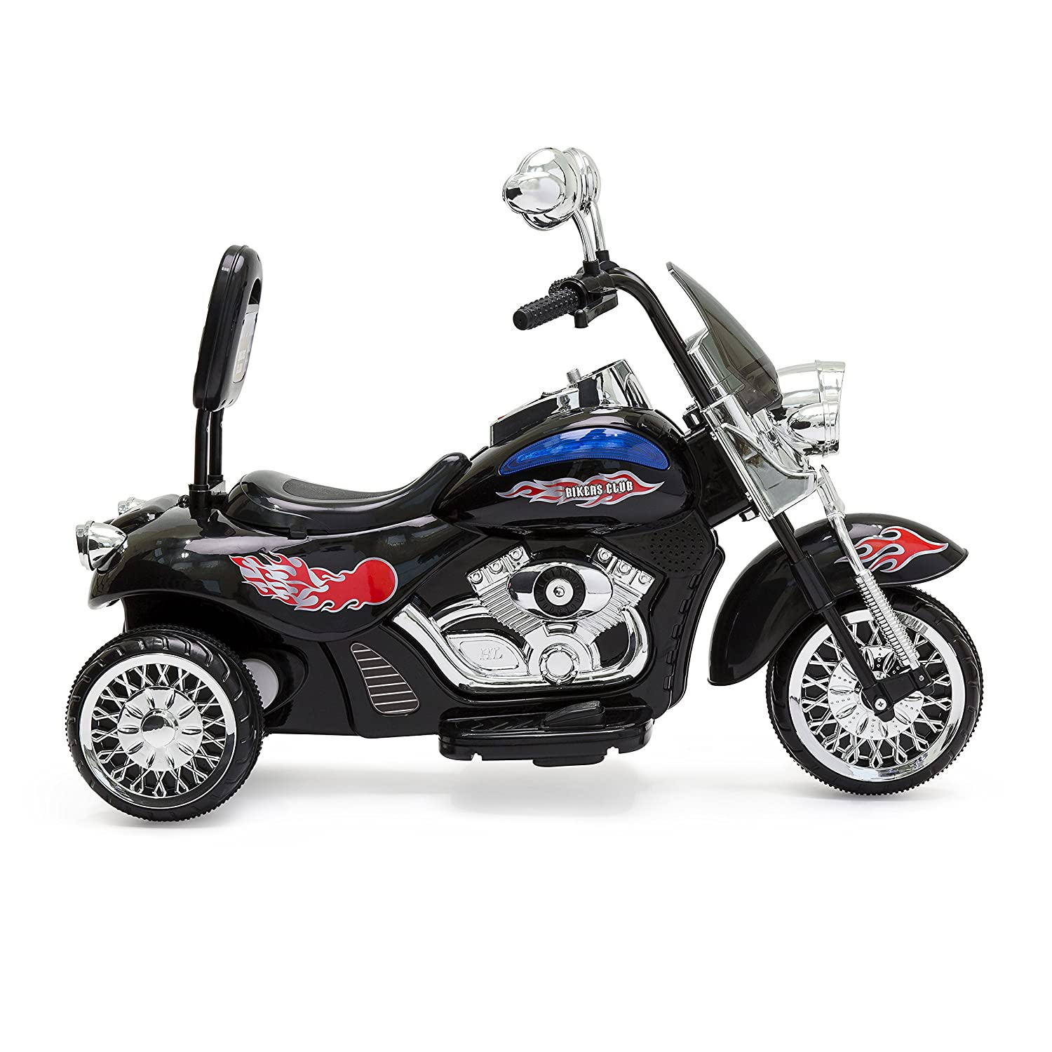 Amazon.com: Best Choice Products 12V Kids Ride-On Motorcycle Chopper w/  Built-in Music, MP3 Plug-in - Black: Toys & Games