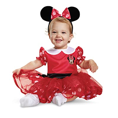 Red Mickey Mouse Minnie Mouse Costume for Infants: Toys & Games