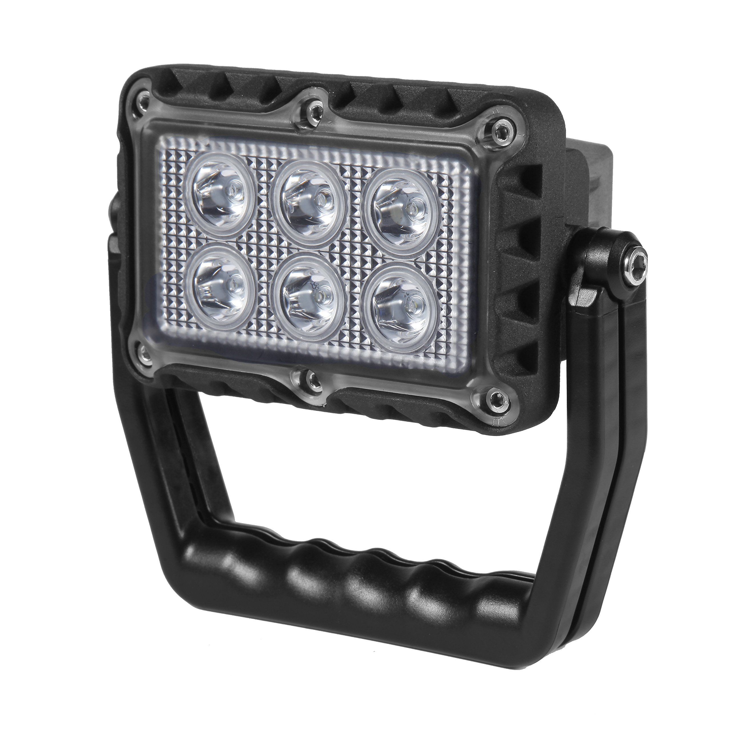 18W Portable LED Emergency Flood Light, Camping Light, Work Light, Emergency SOS Function Flashers and USB Port Power Bank, 6 LED Beads