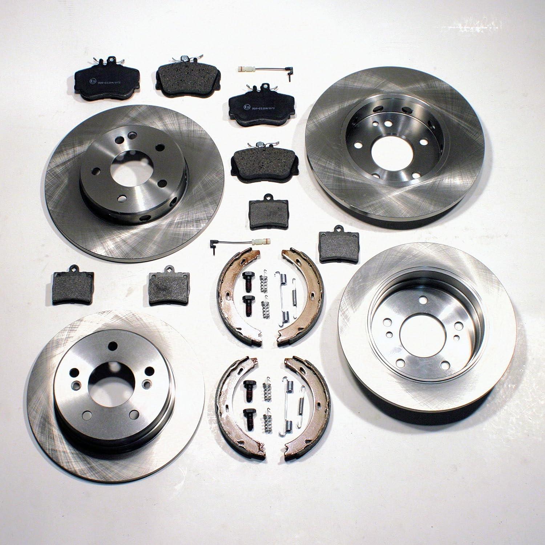 Bremsscheiben 4 Loch Bremsen Bremsbel/äge Handbremsbacken Zubeh/ör f/ür hinten die Hinterachse