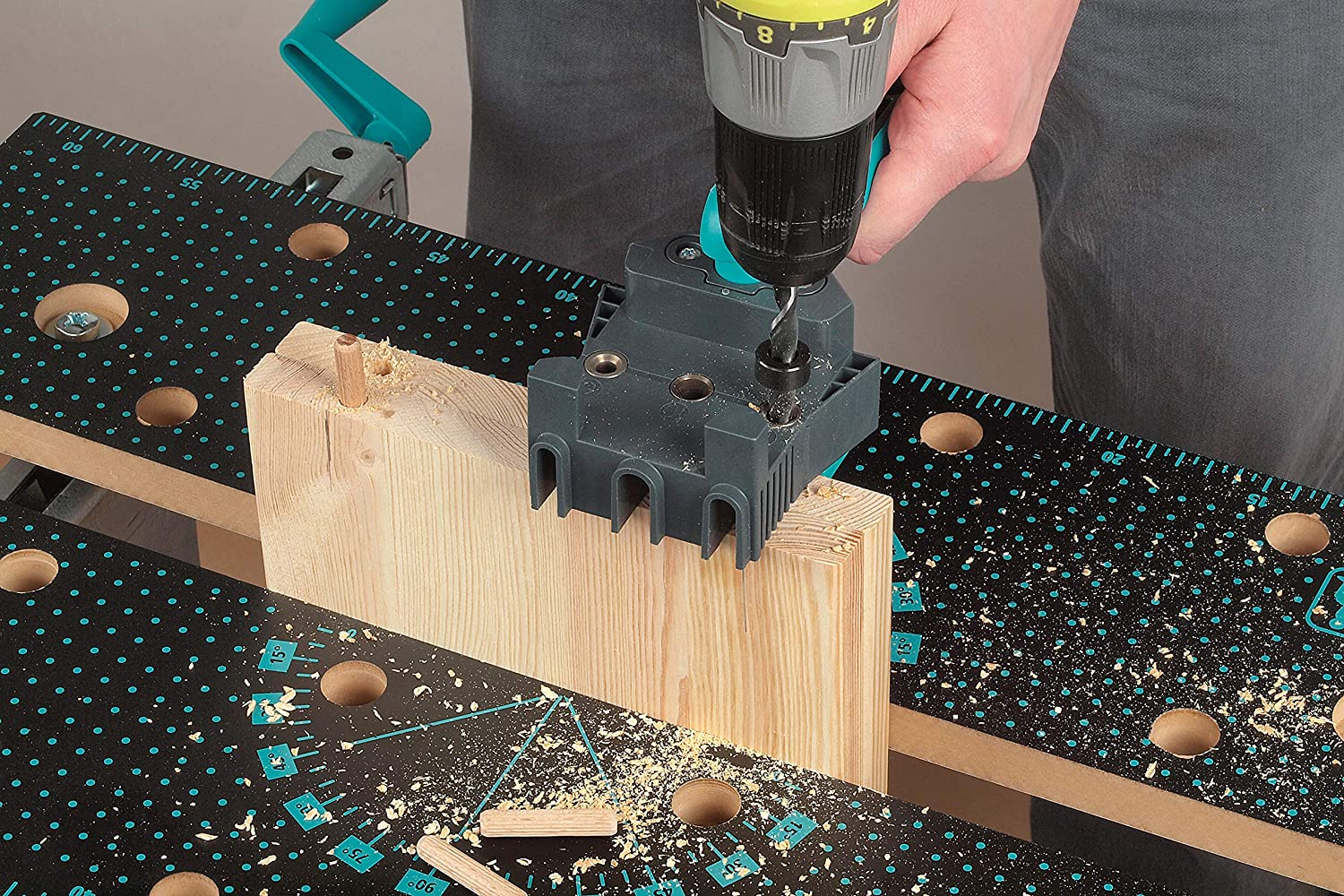 Wolfcraft 4640000 Dowel Master 8 And 10 Mm Dowel Pins 6