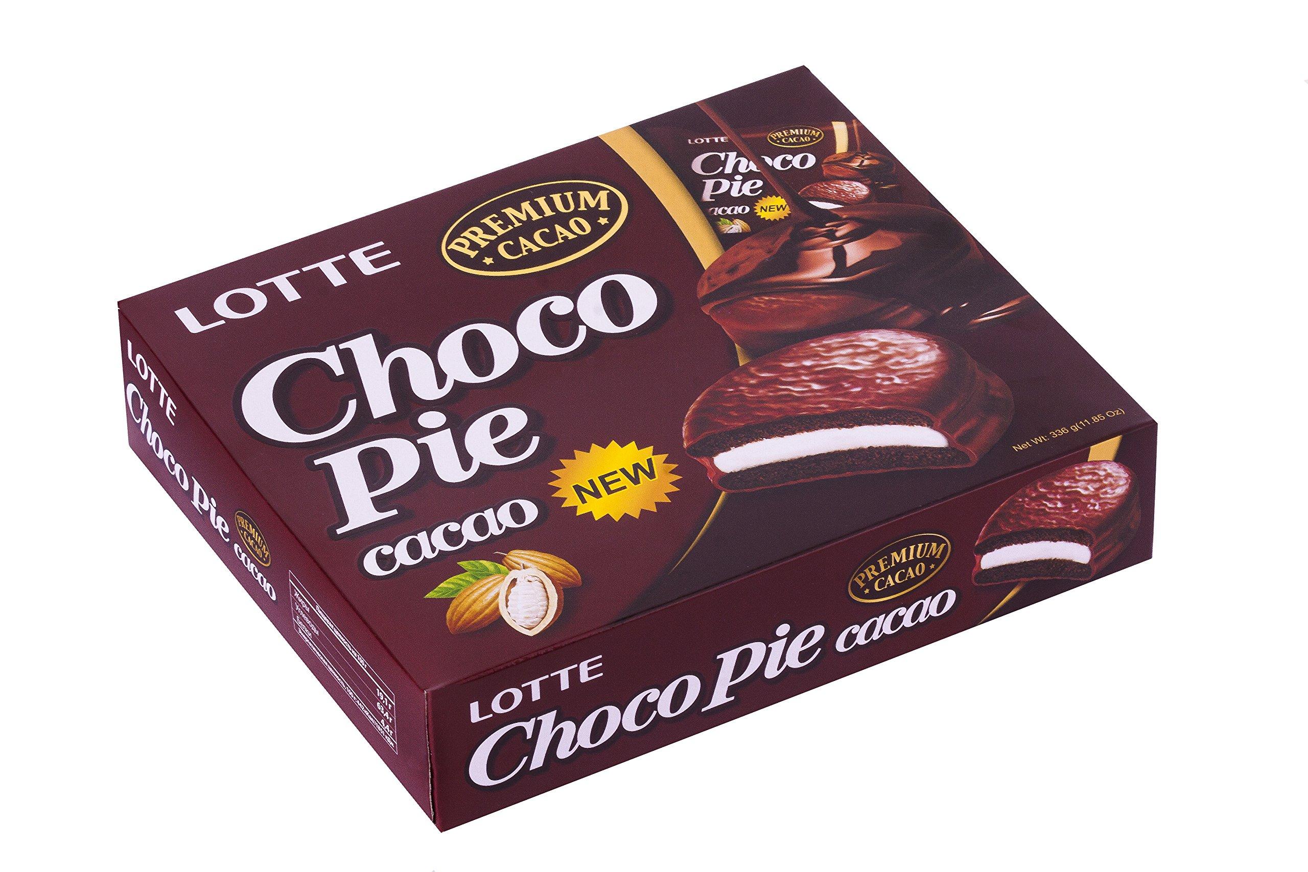 LOTTE Chocopie Cacao Pie, 11.85 Ounce