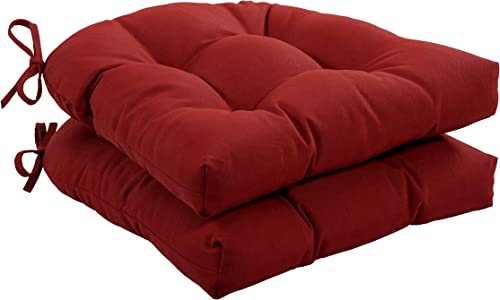 Quality Outdoor Living 29-RD1SCH Tufted Chair Cushion-Set of 2