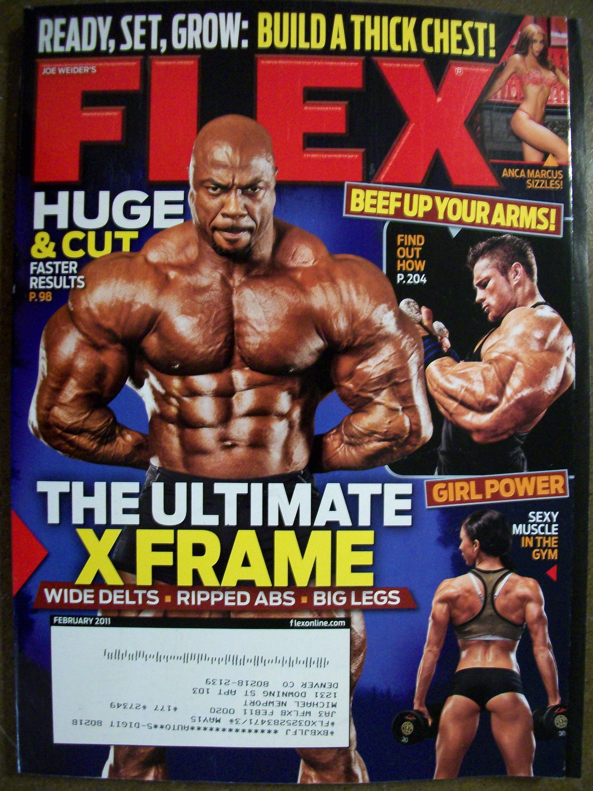 Flex February 2011 The Ultimate X Frame Build a Thick Chest Sexy Muscle in  the Gym: Joe Weider: Amazon.com: Books