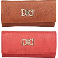 Roshiaaz Stylish Casual/Party Clutch With Snap Closure For Women And Girls (combo of 2)