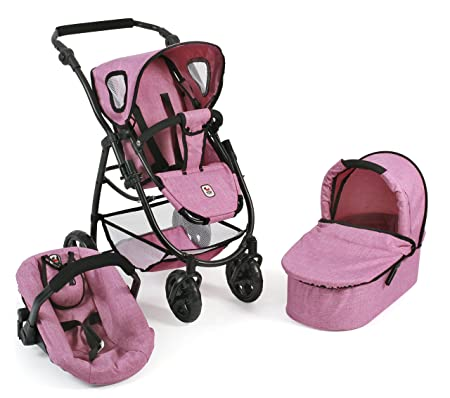 Amazon.es: Bayer Chic 2000 Cochecito de muñecas combinable 3 en 1