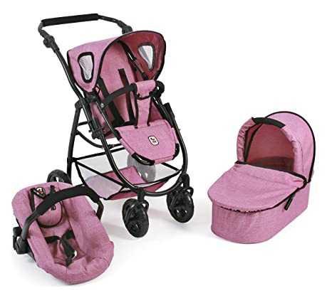 "Bayer Chic 2000 Cochecito de muñecas combinable 3 en 1"" Modelo Emotion All In,"