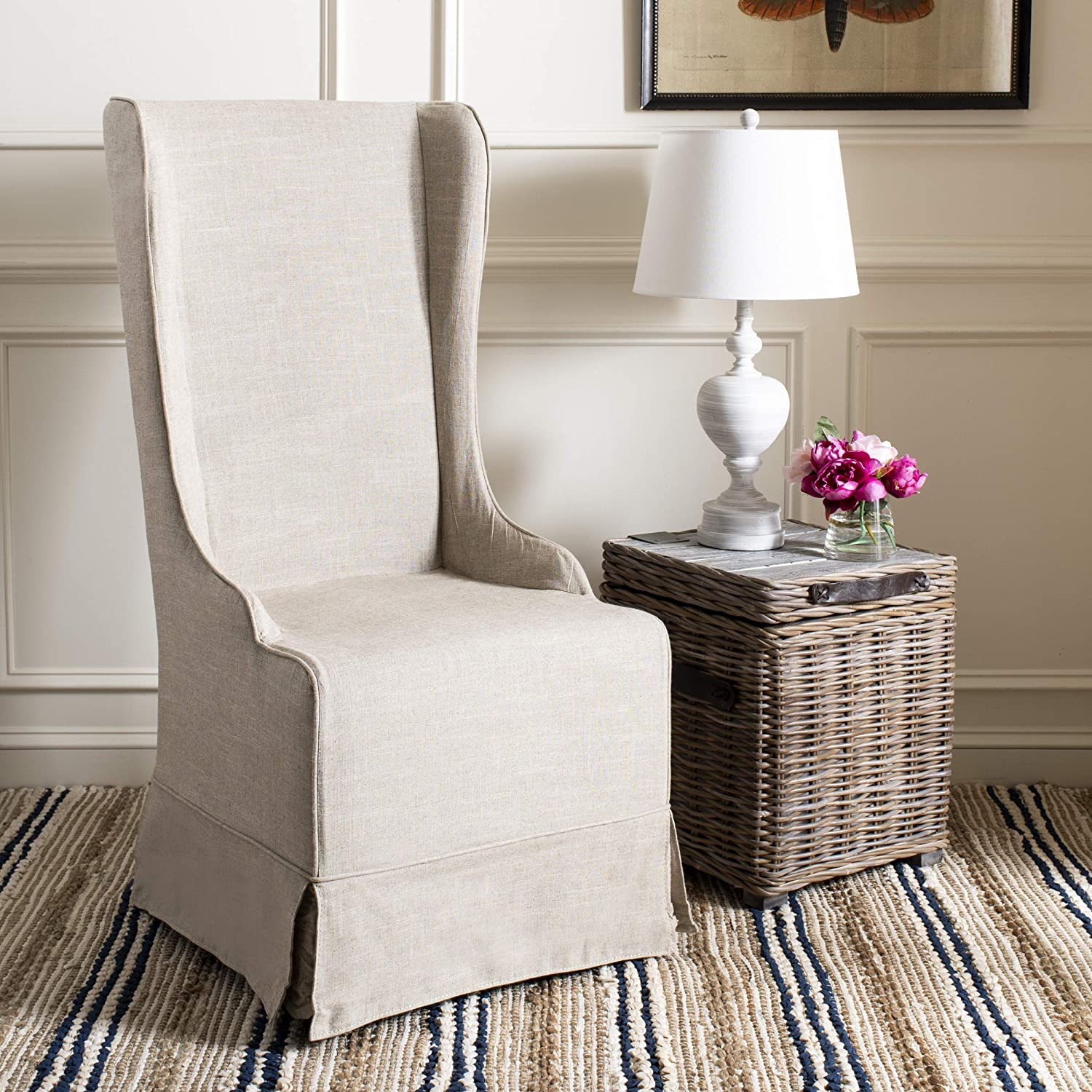 Safavieh Mercer Collection Becall Dining Chair, Hemp