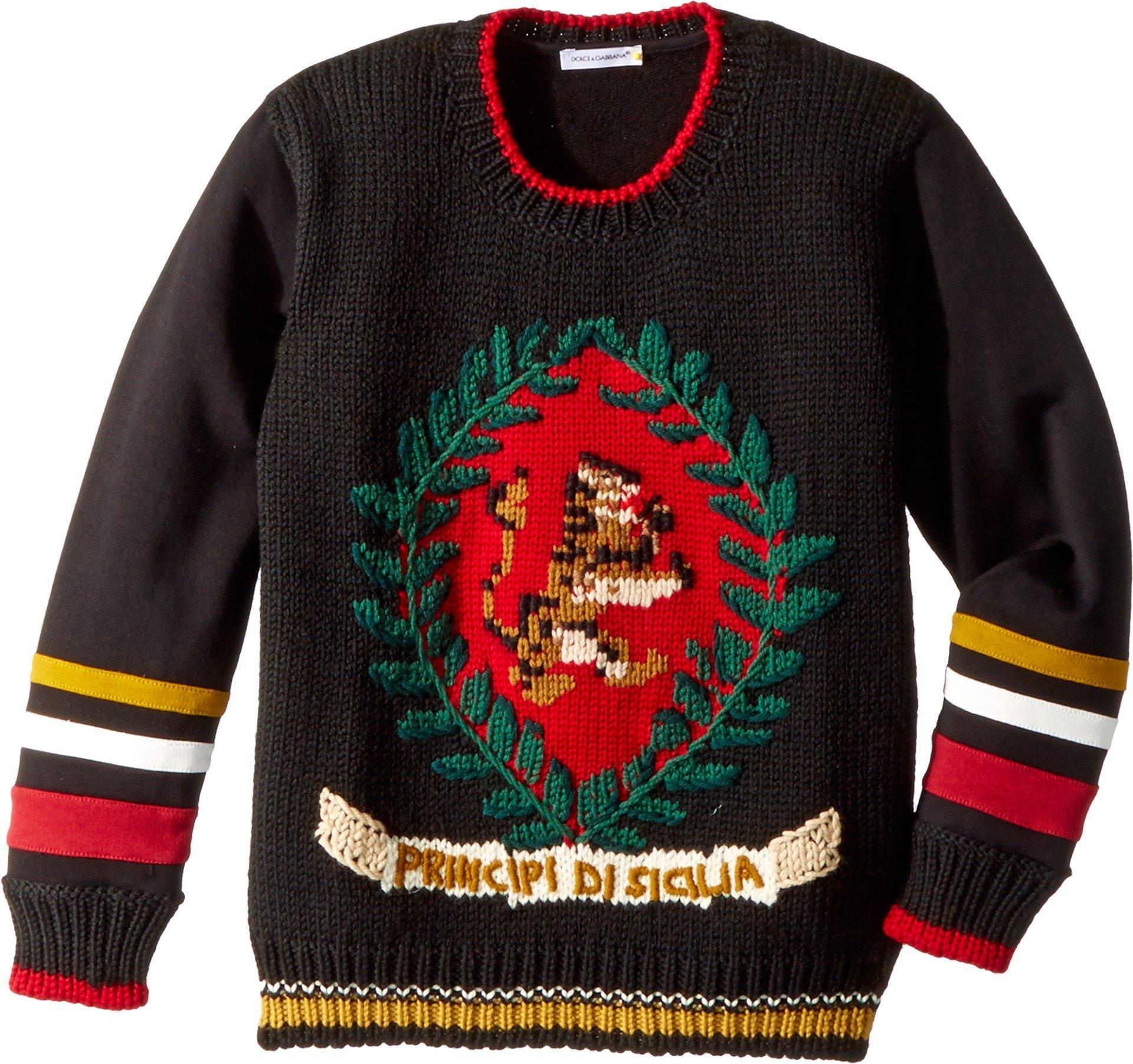 Dolce & Gabbana Kids Baby Boy's Sicily Sweatshirt (Toddler/Little Kids) Black Print 2T Toddler by Dolce & Gabbana