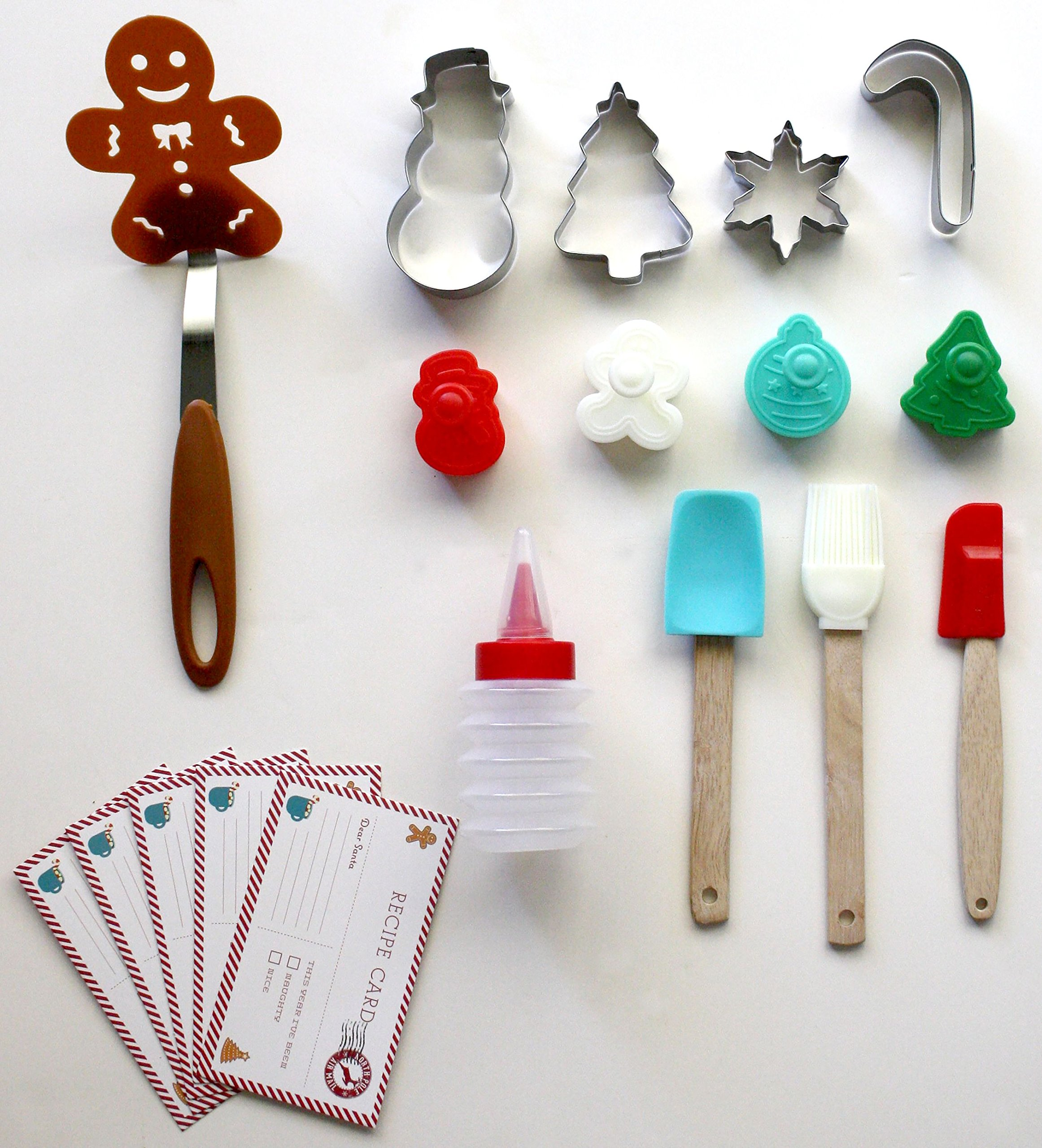 Handstand Kitchen 18-piece Cookies for Santa Real Baking Set with Recipes for Kids by Handstand Kitchen (Image #2)