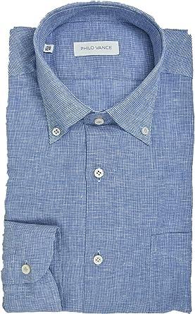 Philo Vance El Hombre de la Camisa de Lino Mezcla de Azul a ...