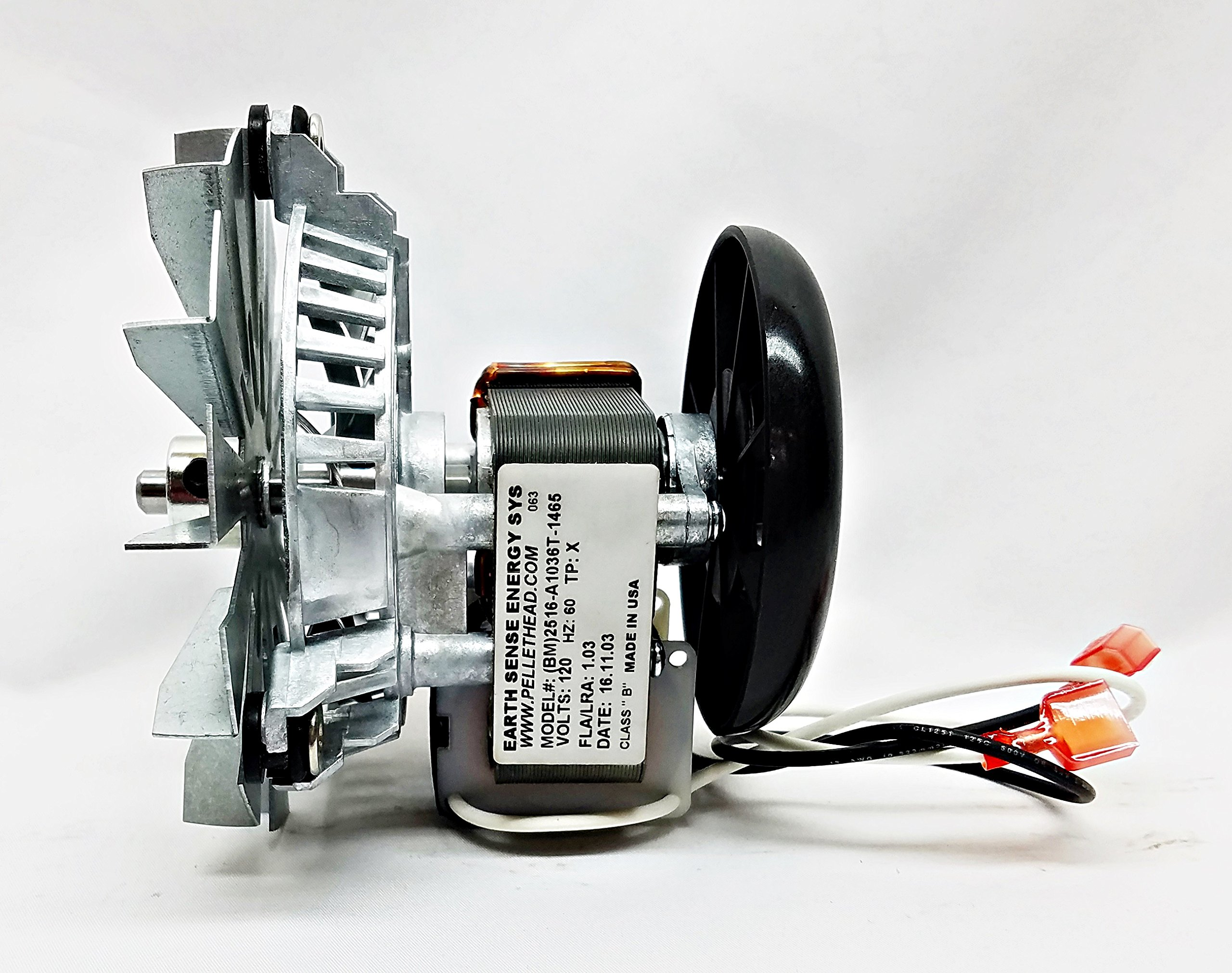 BayWin FS /& Insert Kozi 100 FAN12003 Pellet Combustion Exhaust Motor w Gasket