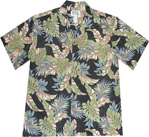 KYS Men Hawaiian Shirt Tropical Parrot Design