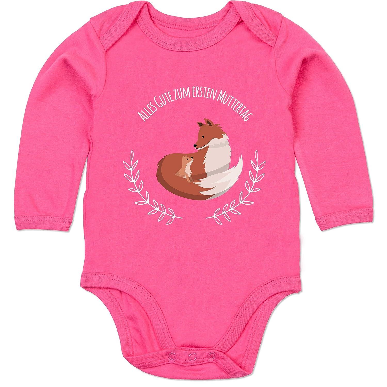Baby Body Langarm Alles Gute zum ersten Muttertag F/üchse Shirtracer Muttertag Baby