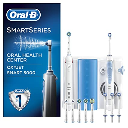 Oral-B Estación de Cuidado Bucal: Oral-B Smart 5000 + Oxyjet Irrigador