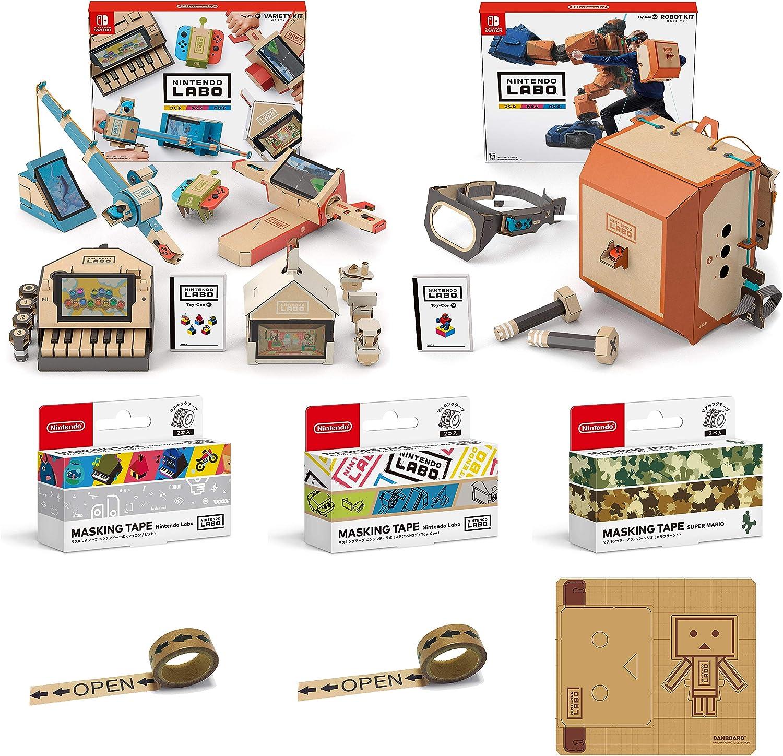 Nintendo Labo (ニンテンドー ラボ) Toy-Con 01: Variety Kit - Switch + Toy-Con 02: Robot Kit - Switch + マスキングテープ3種(Nintendo Labo(アイコン/ピクト)・(ステンシルロゴ/Toy-Con)・スーパーマリオ(カモフラージュ)) (【Amazon.co.jp限定】オリジナル ...