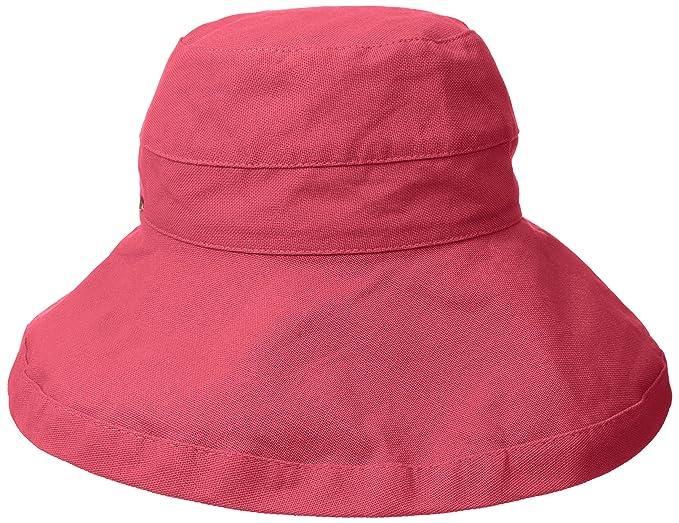 a3229483 Scala Women's Cotton Big Brim Hat, Coral Rose, One Size: Amazon.ca ...