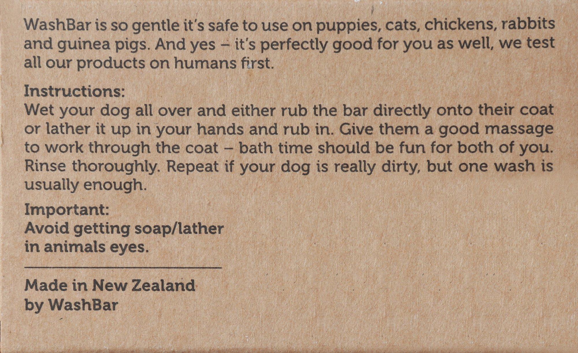 WashBar Natural Dog Shampoo - Twin Pack 100% Natural Soap Bar For Dry, Itchy or Sensitive Skin