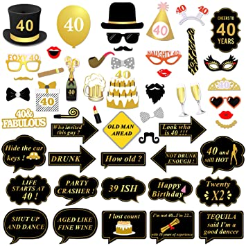 40 Geburtstag Photo Booth Props Konsait Fotorequisiten